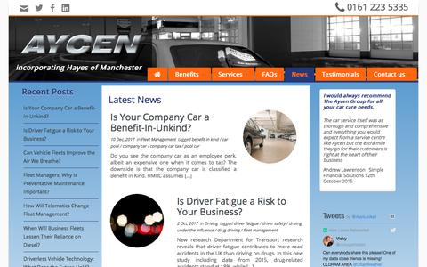 Screenshot of Press Page aycen.co.uk - Latest News - The AYCEN Group - captured July 28, 2018