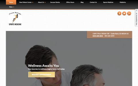 Screenshot of Home Page b2hchiro.com - Front Range Sports Medicine - Chiropractor in Castle Rock, CO, US - captured Oct. 5, 2018