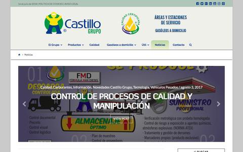 Screenshot of Blog castillogrupo.com - Noticias - Castillo Grupo - captured July 16, 2018