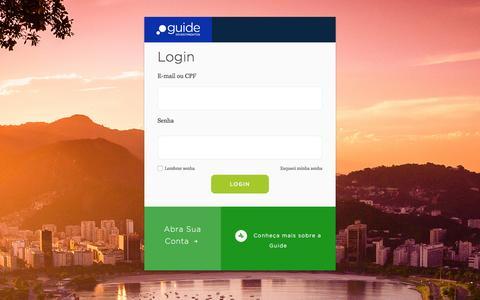 Screenshot of Login Page guideinvestimentos.com.br - guide investimentos - captured July 19, 2016