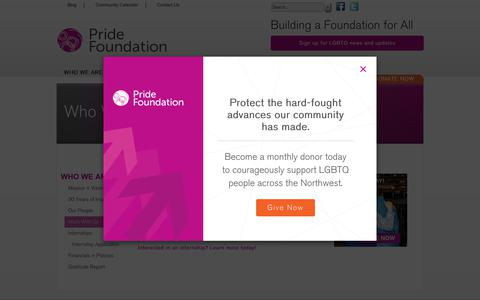 Screenshot of Jobs Page pridefoundation.org - Pride Foundation - Work With Us - captured Feb. 26, 2018