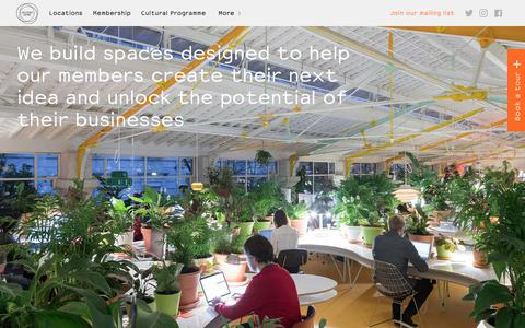 Screenshot of Locations Page secondhome.io - Coworking, Office Space – All Locations | Second Home - captured Oct. 21, 2018
