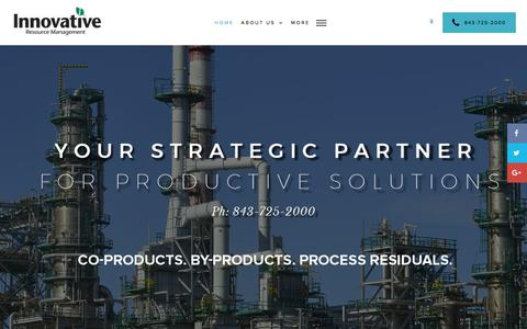 Screenshot of Home Page the-irm.com - Home- Your Strategic Partner for Productive Solutions - Innovative Resource Management - captured Oct. 15, 2017