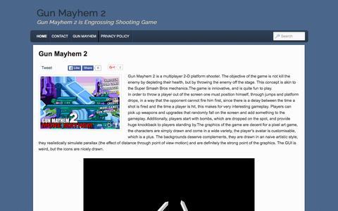 Screenshot of Home Page gunmayhem-2.info - Gun Mayhem 2 - captured March 4, 2016