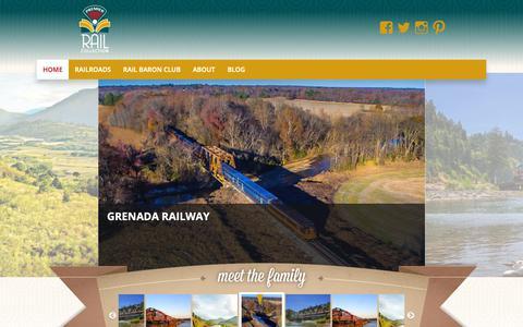 Screenshot of Home Page premierrails.com - Premier Rail Collection - - captured Sept. 29, 2018