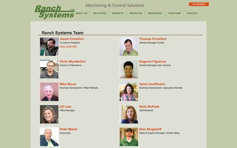 Screenshot of Team Page ranchsystems.com - Team  |  Ranch Systems - captured Dec. 10, 2016