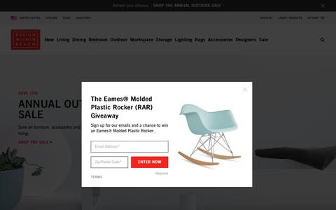 Screenshot of Home Page dwr.com - Design Within Reach | The Best in Modern Furniture and Modern Design - captured May 24, 2016