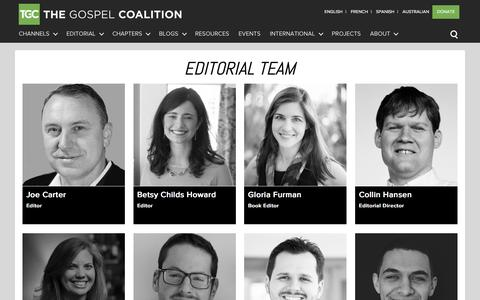 Screenshot of Team Page thegospelcoalition.org - Editorial Team - captured Jan. 13, 2016