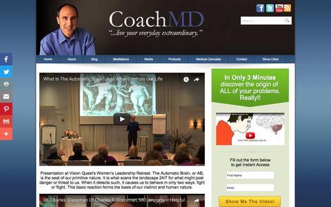 Screenshot of Press Page charlesglassmanmd.com - Coach MD Interviews - captured Aug. 7, 2017