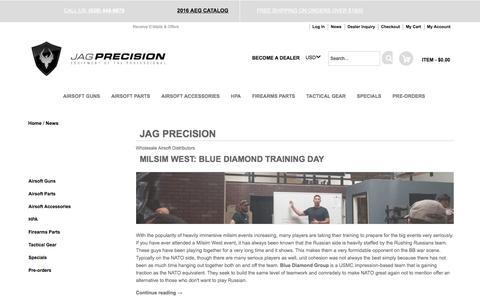 Screenshot of Press Page jagprecision.com - JAG Precision Jag Precision Airsoft Wholesale - captured Aug. 7, 2016