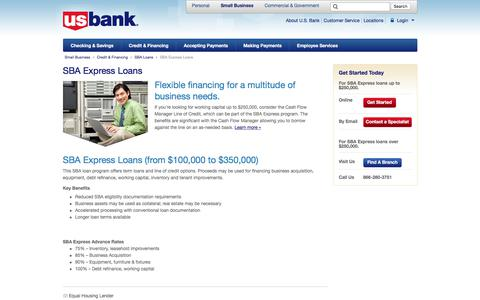 SBA Express Loans | Small Business | U.S. Bank