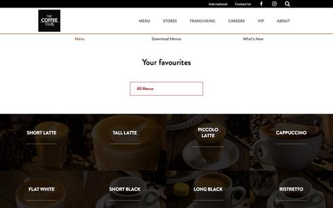Screenshot of Menu Page coffeeclub.com.au - Menu – The Coffee Club - captured Jan. 24, 2017