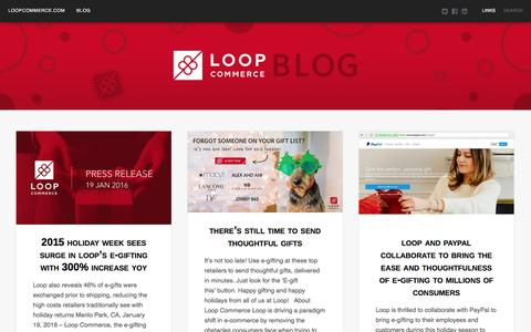 Screenshot of Blog loopcommerce.com - Loop Commerce | blog.loopcommerce.com - captured Feb. 13, 2016