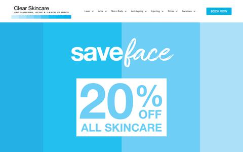 Screenshot of Products Page clearskincareclinics.com.au - Skincare Products - Exclusively Available At Clear Skincare Clinics - captured Aug. 22, 2019