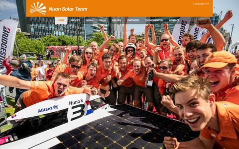 Screenshot of Home Page nuonsolarteam.nl - Nuon Solar Team - captured Feb. 22, 2016