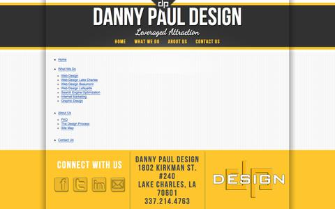 Screenshot of Site Map Page dannypauldesign.com - Site Map - captured Sept. 30, 2014