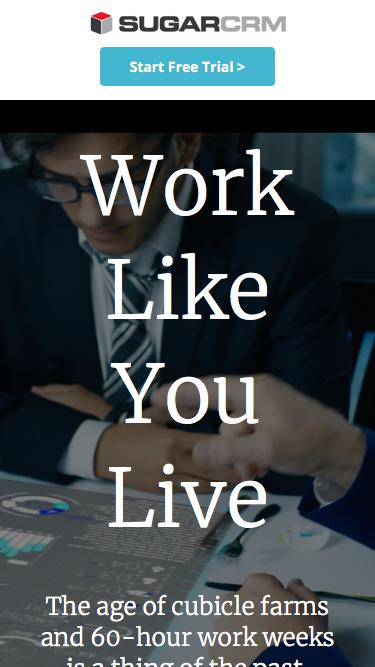 Work Like You Live | The Future of Work [Video] | SugarCRM