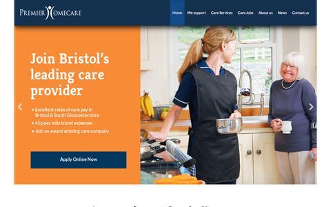 Screenshot of Home Page premier-homecare.com - A warm welcome to Premier Homecare   Premier Homecare - captured May 20, 2017