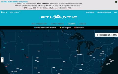 Screenshot of Locations Page atlanticaviation.com - Atlantic Aviation - Learn more about our locations - captured Jan. 25, 2016