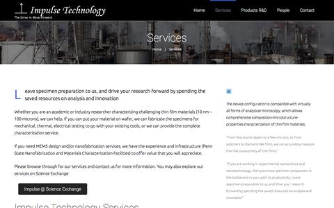 Screenshot of Services Page impulse-technology.com - Services – Impulse Technology - captured Nov. 26, 2016