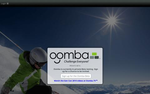 Screenshot of Contact Page oomba.com - Oomba - captured Sept. 12, 2014