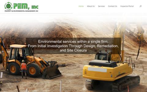Screenshot of Home Page paeminc.com - Property & Environmental Management, Inc - captured Sept. 18, 2017