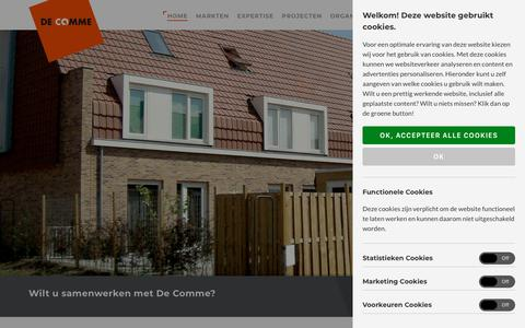 Screenshot of Home Page decomme.nl - Home - De Comme - captured Oct. 7, 2018
