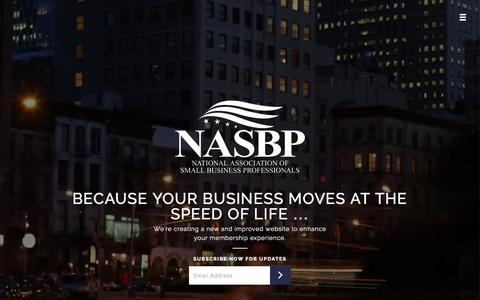 Screenshot of Home Page small-business-association.com - National Association of Small Business Professionals - captured Oct. 12, 2015