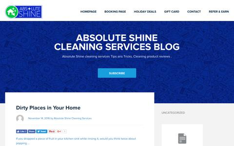 Screenshot of Blog absoluteshines.com - Blog — Absolute Shine Cleaning Services in Virginia - captured Nov. 20, 2016