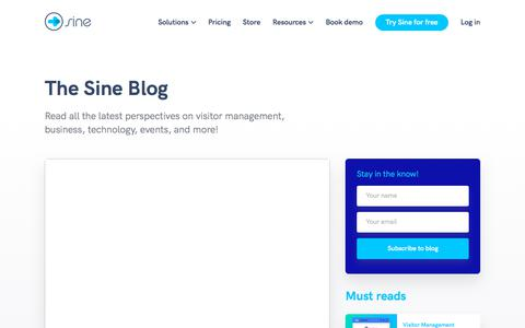 Screenshot of Blog sine.co - Complete workplace solutions blog | Sine - captured Aug. 22, 2019