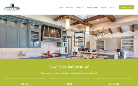 Screenshot of Contact Page stagedtoselldesign.com - Contact Us — STAGED TO SELL - captured March 23, 2019