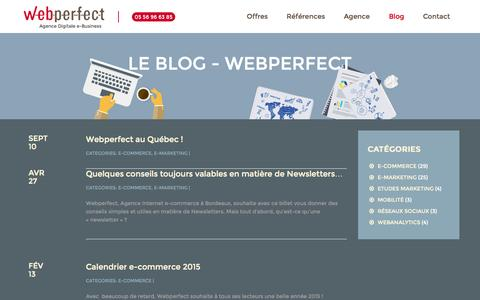 Screenshot of Blog webperfect.fr - Webperfect | Le Blog - Webperfect - captured Sept. 27, 2015