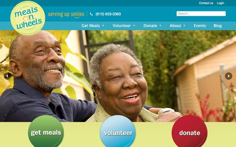 Screenshot of Home Page meals-on-wheels.com - Metro Meals on Wheels - Home - captured Oct. 18, 2017