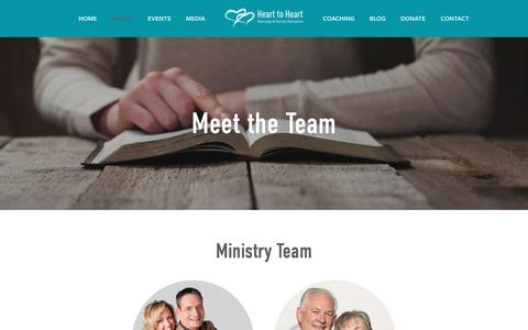Screenshot of Team Page h2hliving.ca - Meet the Team — Heart to Heart Marriage & Family Ministries - captured Jan. 6, 2018