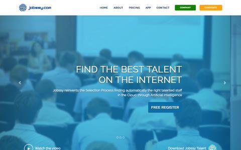 Screenshot of Home Page jobssy.com - Jobssy.com - Buscador de Talento y Personas   Jobssy - captured Jan. 28, 2015