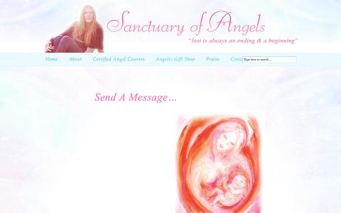 Screenshot of Contact Page sanctuaryofangels.com - Send a Message to Sanctuary of Angels - captured March 6, 2016