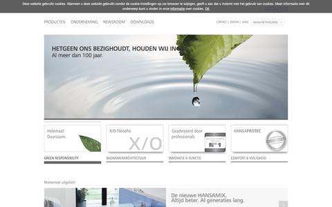 Screenshot of Home Page Site Map Page hansanederland.nl - www.hansanederland.nl - HANSA - captured Oct. 1, 2014