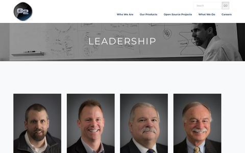 Screenshot of Team Page g2-inc.com - Leadership | G2 - captured July 14, 2018