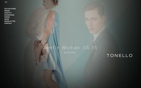 Screenshot of Home Page tonello.net - Home | Tonello - captured Oct. 2, 2014
