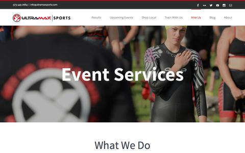 Screenshot of Services Page ultramaxsports.com - Our Services – Ultramax Sports - captured April 1, 2016
