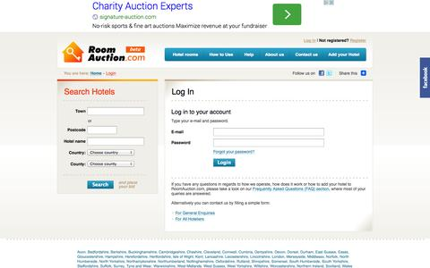 Screenshot of Login Page roomauction.com - Login - captured Oct. 7, 2014