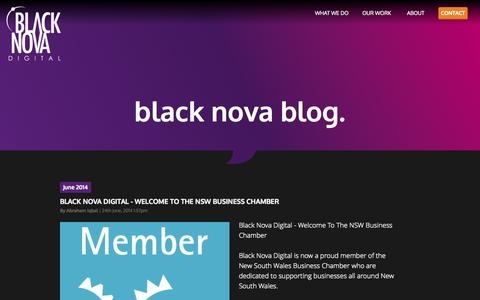 Screenshot of Blog blacknova.com.au - Blog - Keep Up To Date | Black Nova Digital - captured Oct. 5, 2014