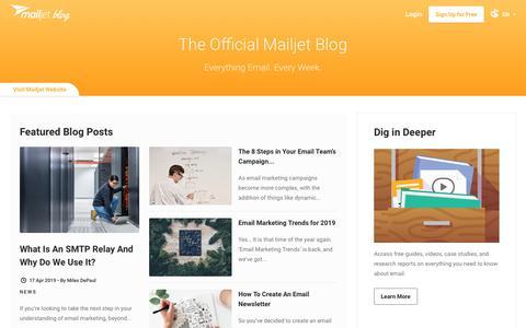 Screenshot of Blog mailjet.com - Email Marketing Blog - captured June 27, 2019