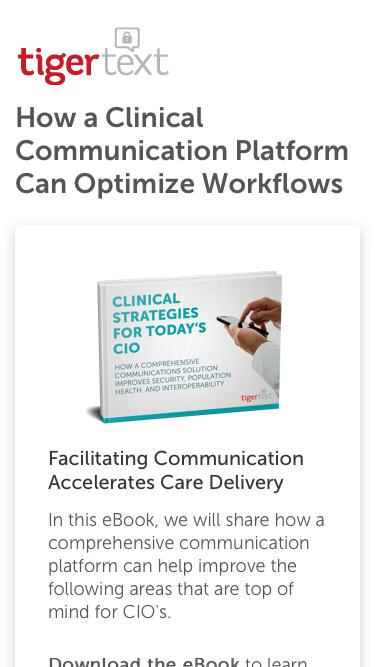 Clinical Strategies For Today's CIO TigerText eBook