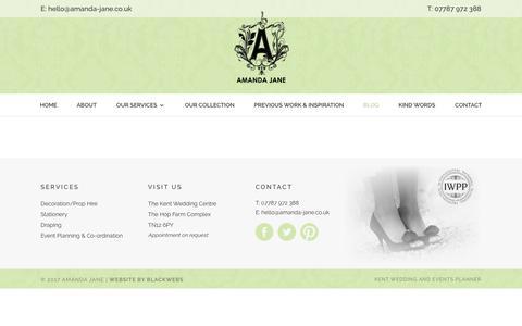 Screenshot of Blog amanda-jane.co.uk - Blog - Amanda Jane - captured May 11, 2017