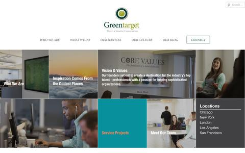 Screenshot of Jobs Page greentarget.com - Your Career Here «  Greentarget - captured Feb. 2, 2019