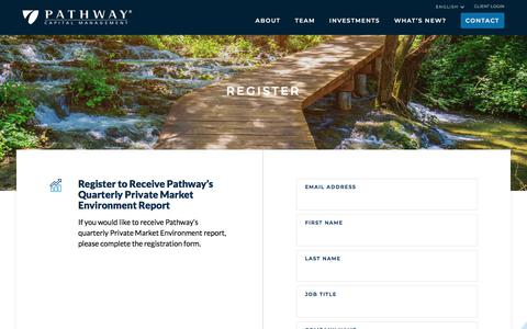 Screenshot of Signup Page pathwaycapital.com - Register | Pathway Capital Management - captured Aug. 28, 2019