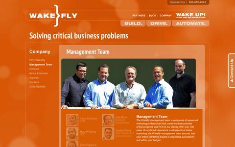 Screenshot of Team Page wakefly.com - Management Team|Wakefly - captured Sept. 23, 2014