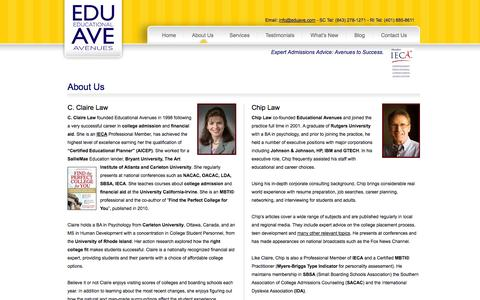 Screenshot of About Page eduave.com - About Us - Educational Avenues - captured Oct. 2, 2014