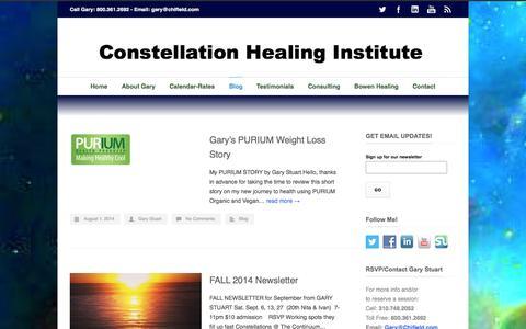 Screenshot of Blog chifield.com - Constellation Healing Institute   –  Blog - captured Oct. 3, 2014